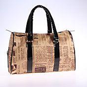 Vintage Fashion Krant Patroon schoudertas – EUR € 32.17