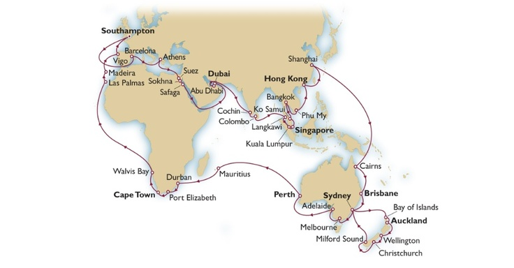 (Queen Mary 2) Navio de cruzeiro realiza viagem de 106 dias pelo mundo - Fotos - UOL Viagem
