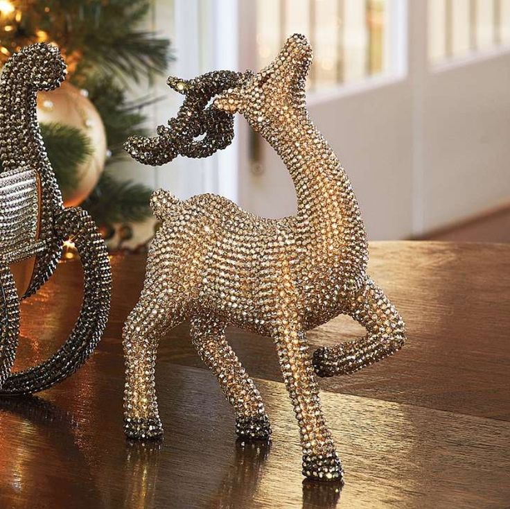 Reindeer and crystals on pinterest