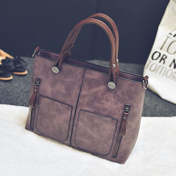 Women Retro Solid Tote Bags Dating Weekender Bag men women bags fashion  54aed5a67793a