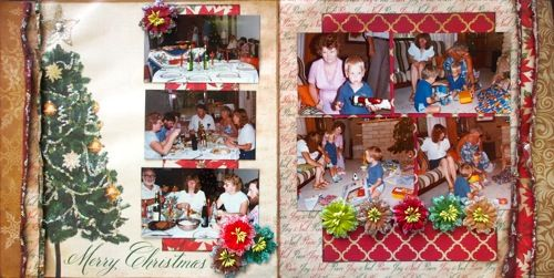 Merry Christmas double page create with Reminisce, A Christmas Story collection by Barb for My Scrappin' Shop.