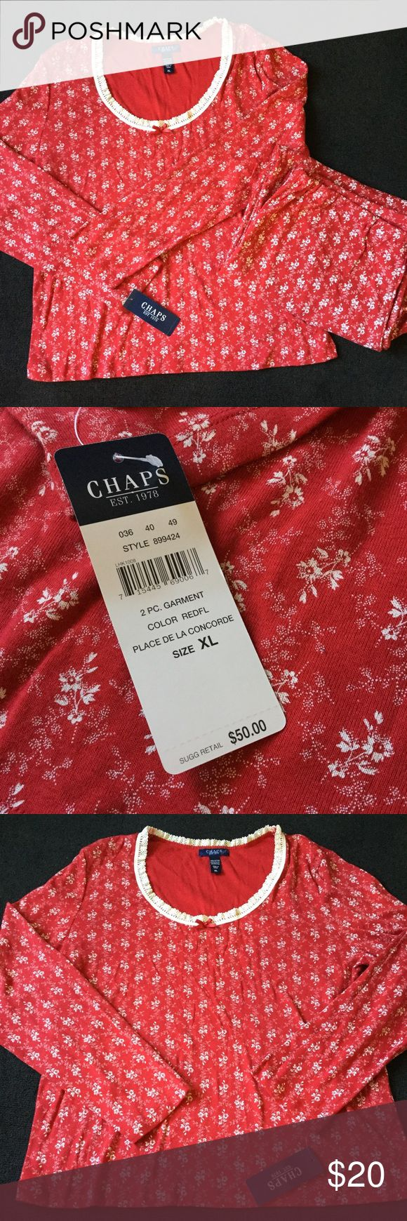 Chaps Sleepwear Set Two piece set. Chaps Intimates & Sleepwear Pajamas