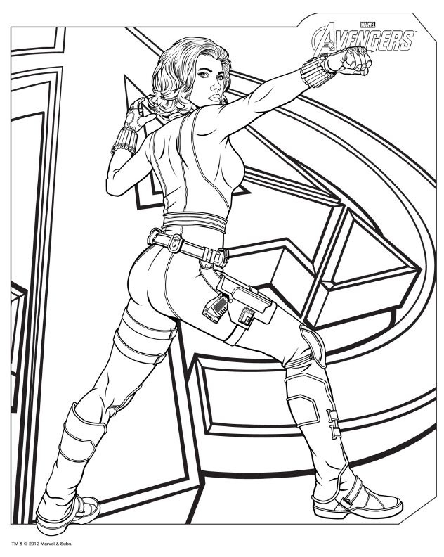 Coloring Pages Of Marvel Avengers : Download avengers coloring pages here blackwidow