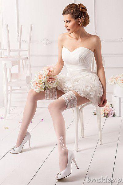 Wyjątkowo kobiece, ekskluzywne pończochy, posiadające ozdobną silikonową koronkę, bez zaznaczonej części palcowej. Zapewniają poczucie elegancji i komfort noszenia. Skład: 89% poliamid, 11% elastan.... #Ponczochy - http://bmsklep.pl/mona-wedding-rosalia-02