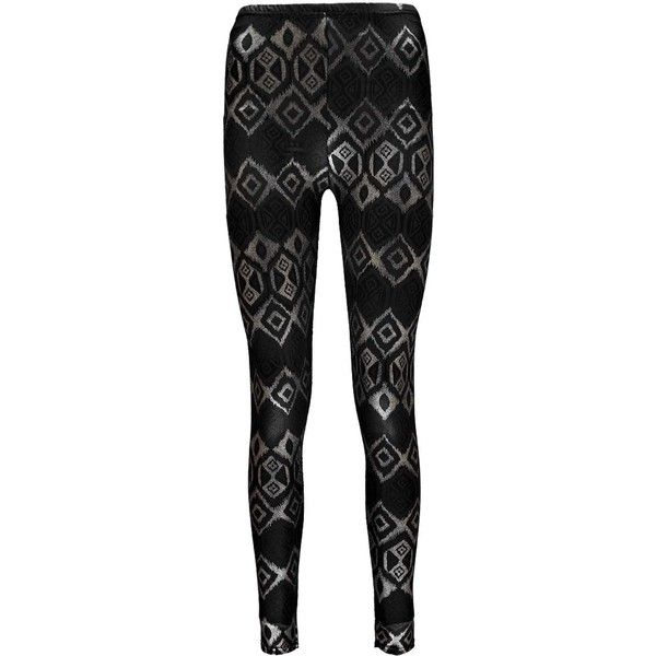Boohoo Amanda Aztec Foil Print Leggings ($7) ❤ liked on Polyvore featuring pants, leggings, aztec-print leggings, aztec patterned leggings, aztec pants, aztec leggings and aztec-print pants