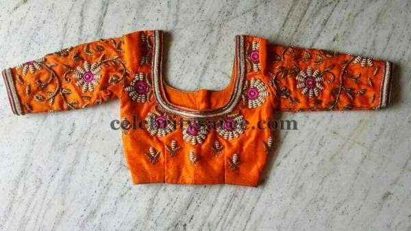 Colorful Zardosi Blouse Designs