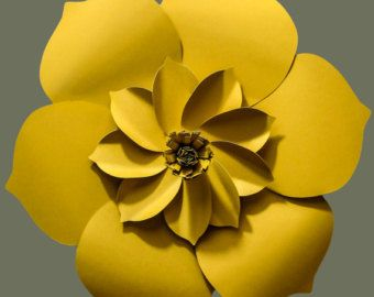 This stunning giant paper flower, with its intricate details, would be a beautiful decor piece for a wedding, event, or for your home. Diameter is