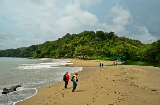 Cikepuh: The estuary of Cikepuh. You can find a food stall not far from here. (Photo by Ayu Wulandari)