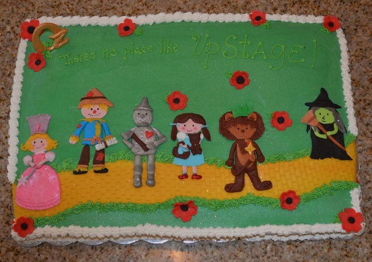 This Cake Was Made For A Wizard Of Oz Cast Party But Would Make A Great Birthday Cake Buttercream With Fondant Decorations This cake was...