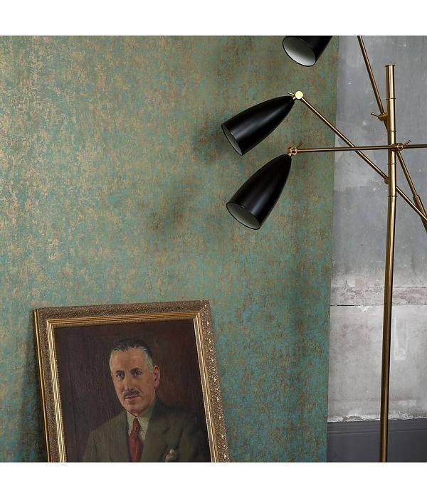 Cole & Son Salvage Blauw En Metallic Goud 92/11053 Behang