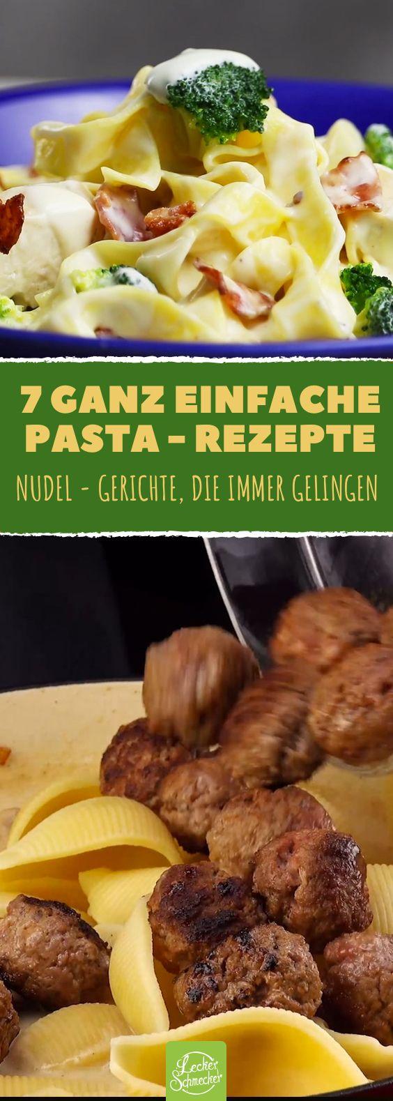 7 wahnsinnig leckere Varianten für die Königin der italienischen Küche: Pasta! #rezept #rezepte #nudeln #gemüse #hühnchen #lachs #tomate