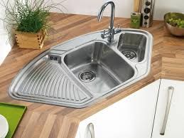 Image result for Stainless Steel Corner Sink & Drainer