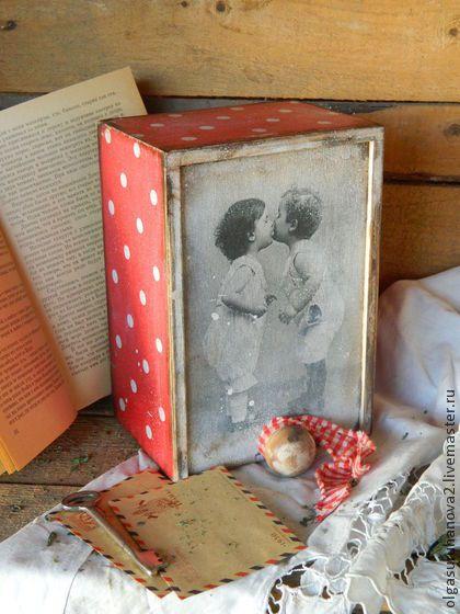 """Корзины, коробы ручной работы. Ярмарка Мастеров - ручная работа Короб """"Любовь"""". Handmade."""
