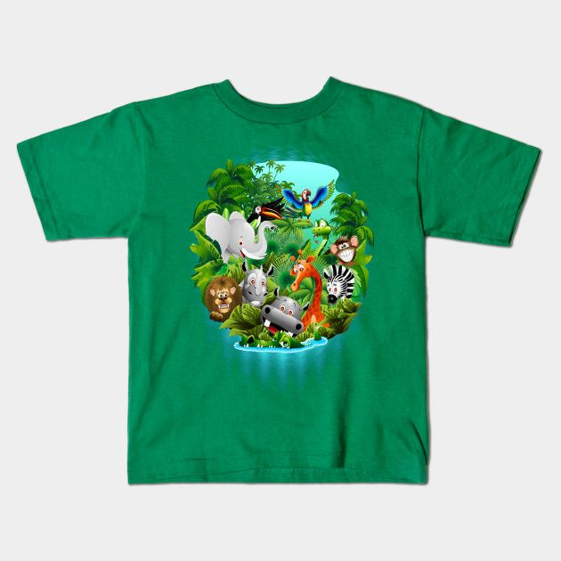 Cool #Kid's #Tees designed by #BluedarkArt - #4sale on #Teepublic #Shop > #Wild_Animals_Cartoon_on_Jungle     https://www.teepublic.com/kids_tee/459906-wild-animals-cartoon-on-jungle     only $14 !! For limited time! Get Yours! :)  @teepublic​