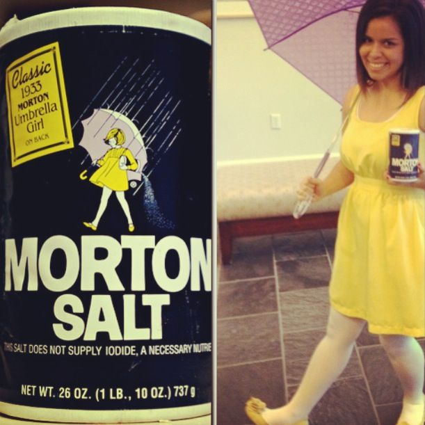 easy diy last minute halloween costume idea morton salt girl all you need is - Halloween Costumes With Blonde Wig