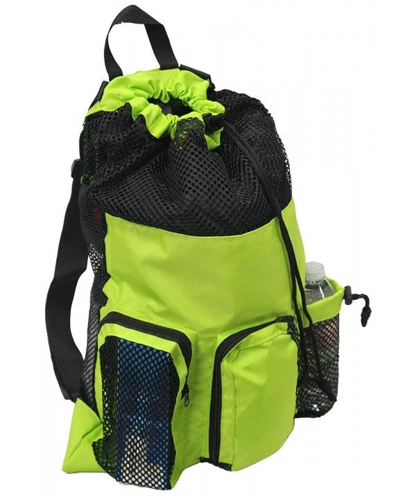 Big Mesh Equipment Sport Drawstring Gym Swim Bag - UMB001 - Green ... 529e8a2e57935