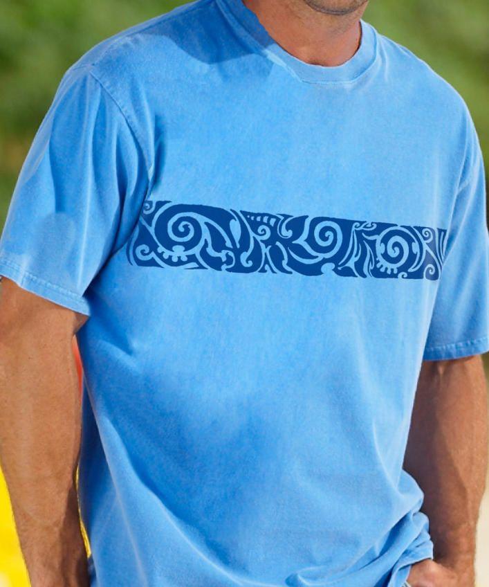 Koa Band - Blue Hawaii-Dyed Crew Neck T-Shirt