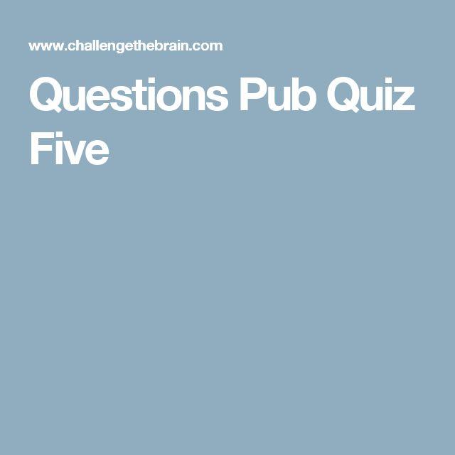 Questions Pub Quiz Five