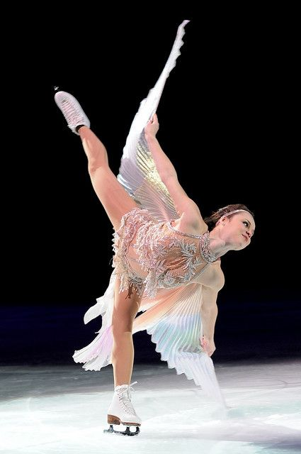 Sasha Cohen. I think of figure skating as like, ballet on ice.