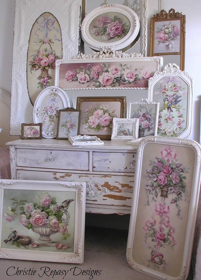 499 best decor shabby chic images on pinterest antique for Shabby chic cottage decor