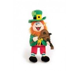 "11"" Finnegan the Irish Singing Leprechaun Soft Toy with Fiddle"