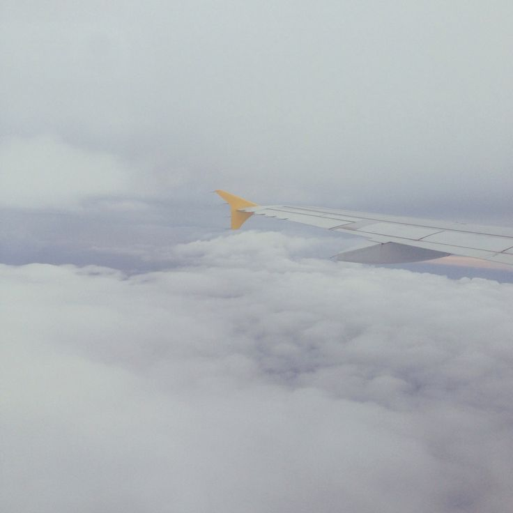In the air.