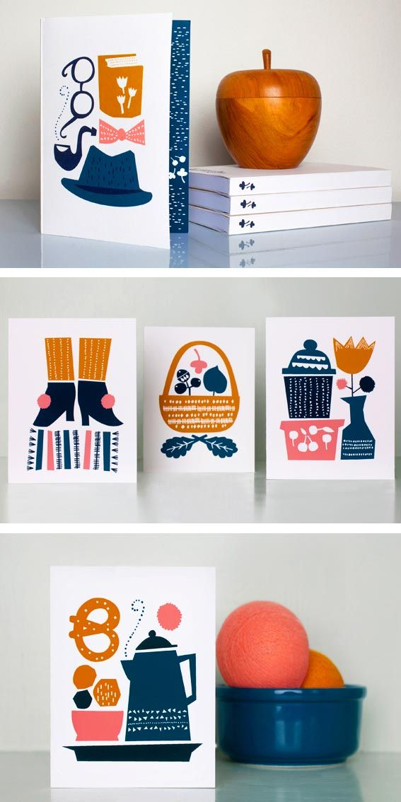 New designs from Darling Clementine.  Love that colour combo...