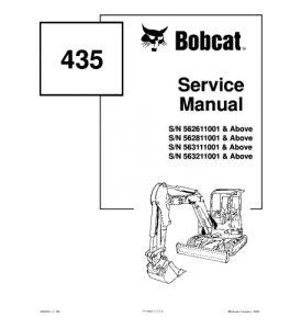 Best download bobcat 435 compact excavator service manual