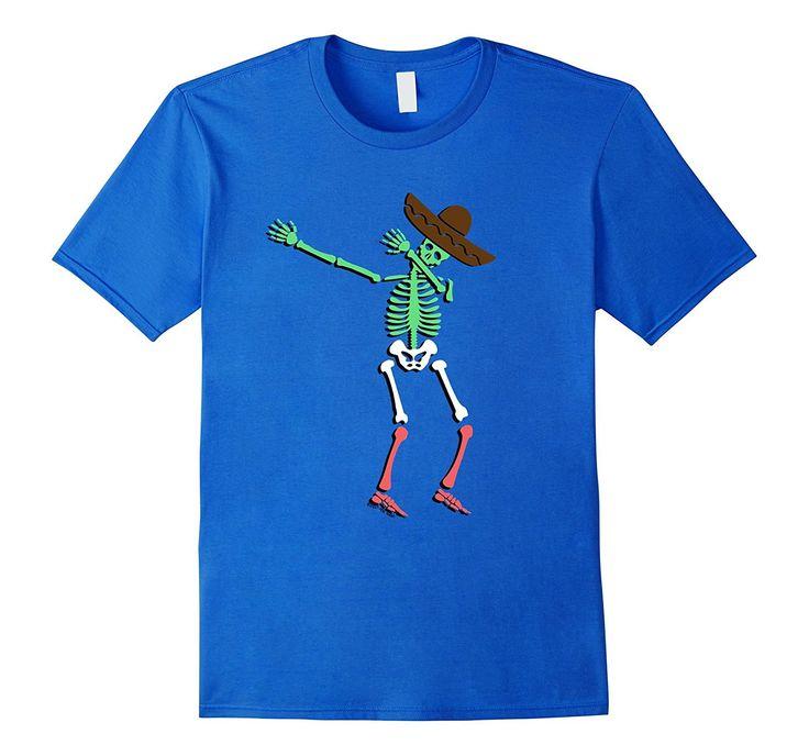 Dabbing Mexican Flag Skeleton Cinco de Mayo Shirt Costume