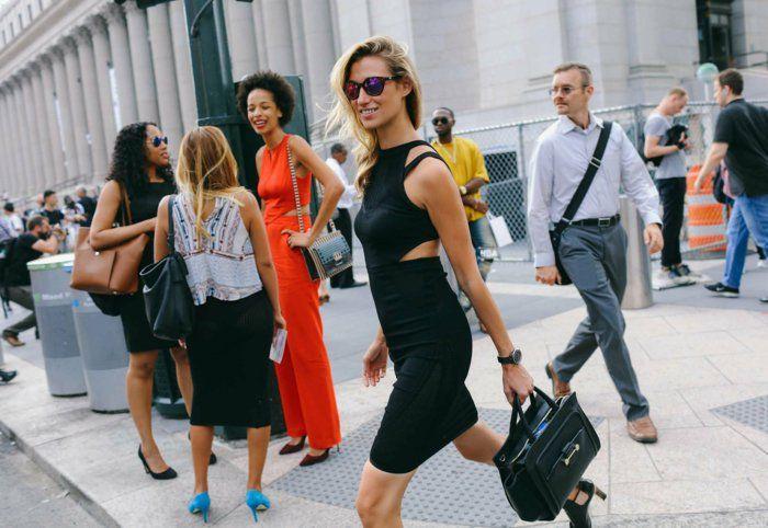 chic idée jupe crayon mi longue tenue de jour jupe robe noire mi longue