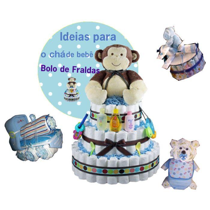 Cantinho Infantil da Bia: Decoração: 10 ideias de bolo de fraldas para menin...
