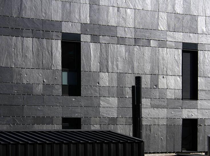 21 best images about texturas en obras arquitectonicas on - Fachadas de pizarra ...