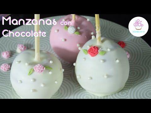 Manzanas para Comunión, Confirmación o Bautizo con chocolate - YouTube