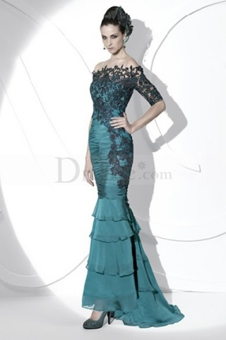 Lace Adorned Top Model Look New Design Gown