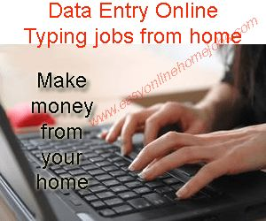 Online typing jobs from home without investment best suitable for college students, house wives, retired persons, many jobs available such as captcha entry