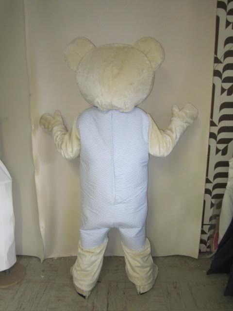 Completed IKEA Fabler Bjorn Teddy Bear mascot costume (Back)