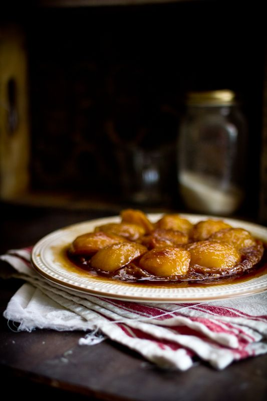 toffee apple tart tartin with vanilla filo crust