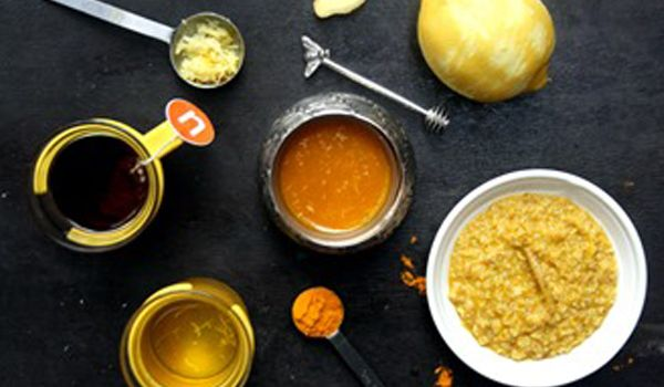 Ginger Tumeric infused Honey #flufighter #homeremedies #recipe
