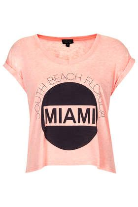Miami South Beach Burnout Tee - New In This Week - New In