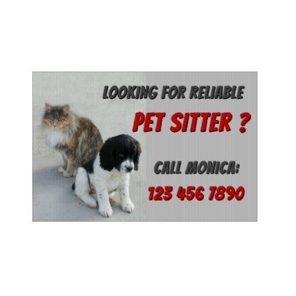 Pet Sitter Lawn Sign - home gifts ideas decor special unique custom individual customized individualized