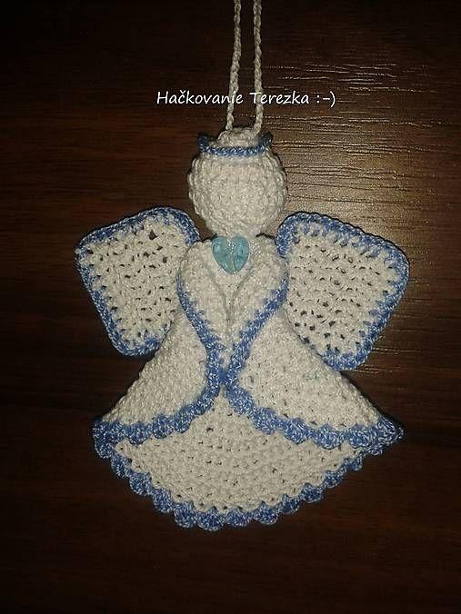 hackovanie-Terezka / anjelik bielo-modry