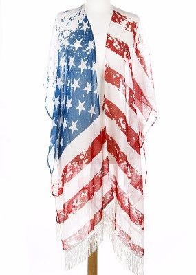 American Flag Shawl