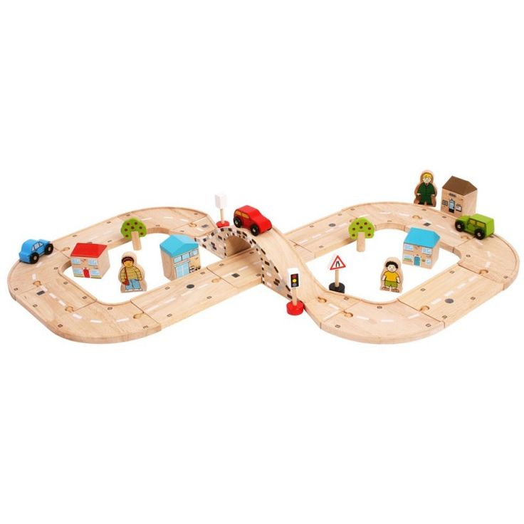 dřevěná autodráha, autodráha osmička, dřevěná osmička, dřevěná stavebnice, bigjigs, - Dřevěné hračky, dřevěné dekorace, montessori hračky