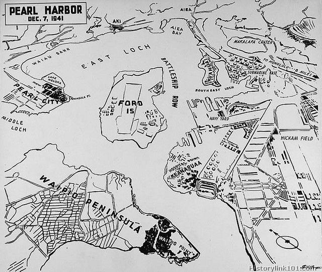 Pearl Harbor Map December 7 1941