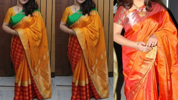 how to wear sari step by step images