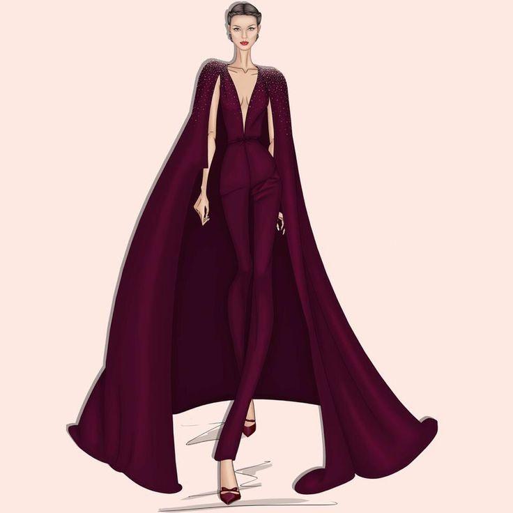 Sunday illustration: Make your Entrance! #GeorgesHobeika #hautecouture #couture…