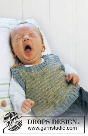 Gestrickte DROPS Weste in Baby Alpaca Silk. Kostenlose Anleitungen von DROPS Design.