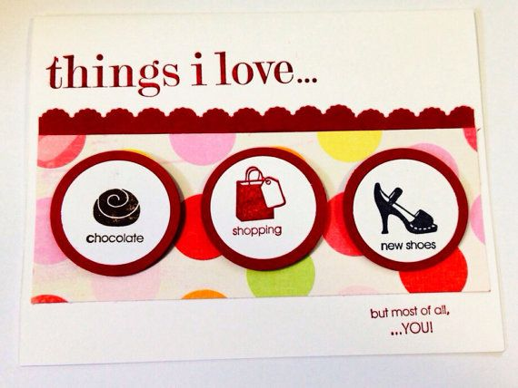 Things I Love card. on Etsy, $4.56 CAD