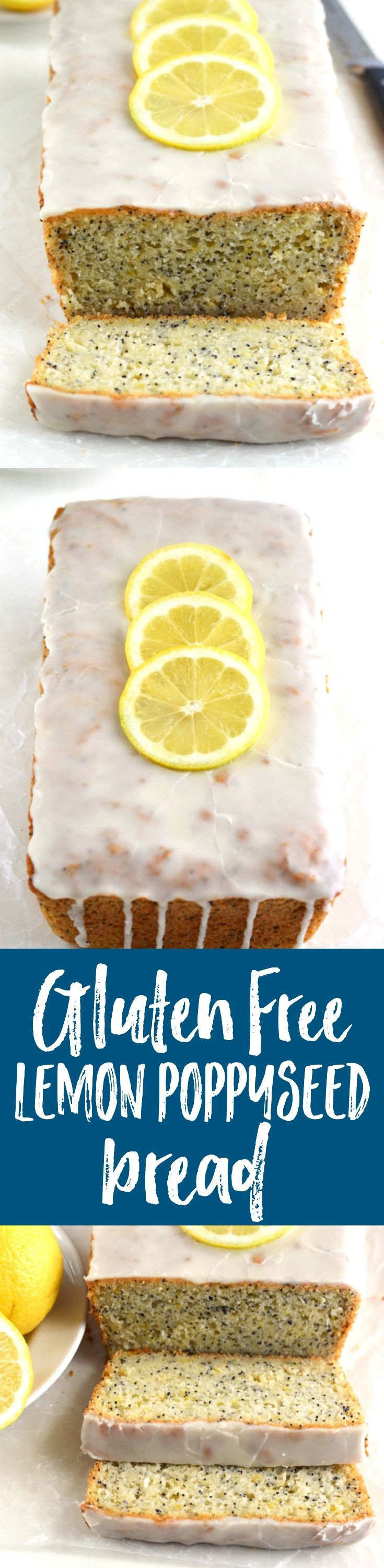 This gluten-free/dairy-free lemon poppyseed bread is bright, fresh, and has the most amazing lemon glaze!