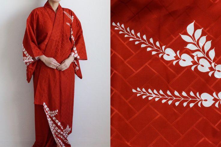 Etsy のKimono, Japanese kimono, kimono robe, floral kimono /1141(ショップ名:LitreJapan)
